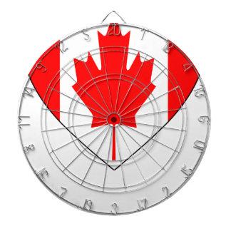 I Love Canada - Heart Vintage Flag T-Shirts Dart Boards