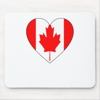 I Love Canada - Heart Vintage Flag T-Shirts Mouse Pad