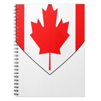 I Love Canada - Heart Vintage Flag T-Shirts Spiral Notebook
