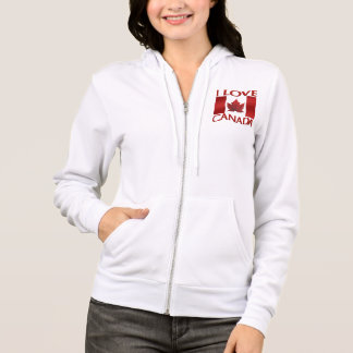 I Love Canada Hoodie Women's Canada Hoodie Jacket