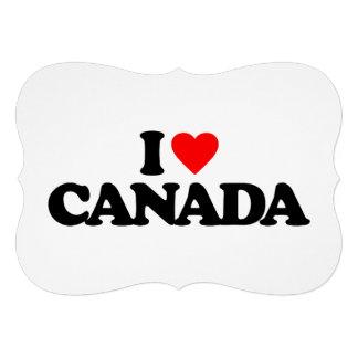 I LOVE CANADA PERSONALIZED INVITATION