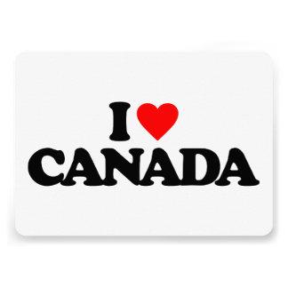 I LOVE CANADA CARDS