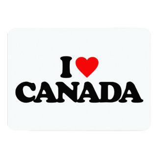 I LOVE CANADA 5X7 PAPER INVITATION CARD