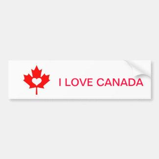 I Love Canada ~ July 1st Car Bumper Sticker