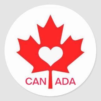 I Love Canada ~ July 1st Classic Round Sticker