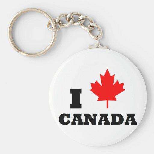 I Love Canada Key Chains