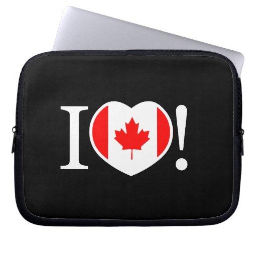 I Love Canada Laptop Sleeve