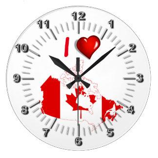 I love Canada Large Clock