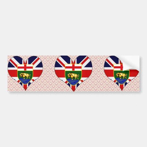 I Love Canada Manitoba Bumper Stickers