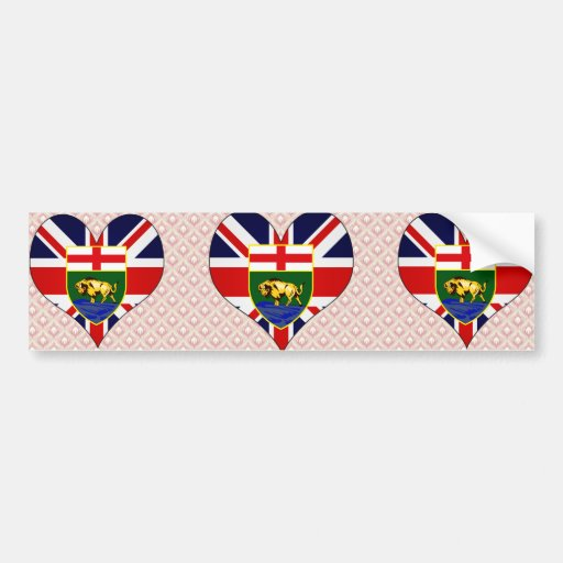 I Love Canada Manitoba Car Bumper Sticker