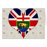 I Love Canada Manitoba Greeting Cards