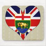 I Love Canada Manitoba Mouse Pad