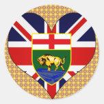 I Love Canada Manitoba Sticker