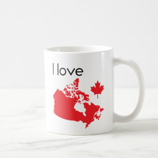 I love Canada Map Coffee Mug
