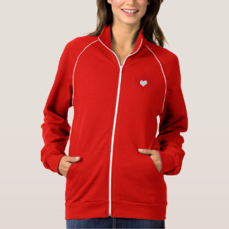 I Love Canada Maple Leaf and Heart Jacket