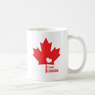 I love Canada Maple Leaf Coffee Mug