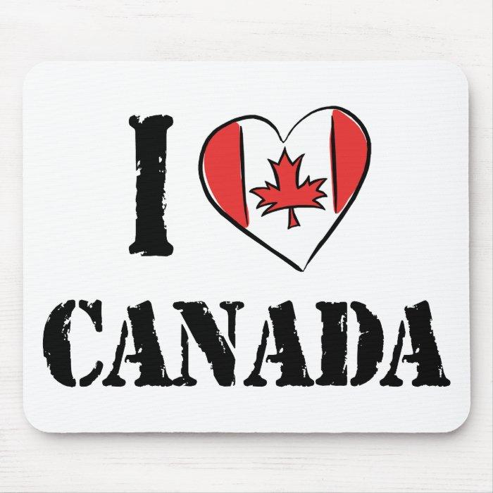 I Love Canada Mouse Pad