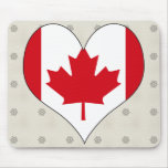 I Love Canada Mouse Pads