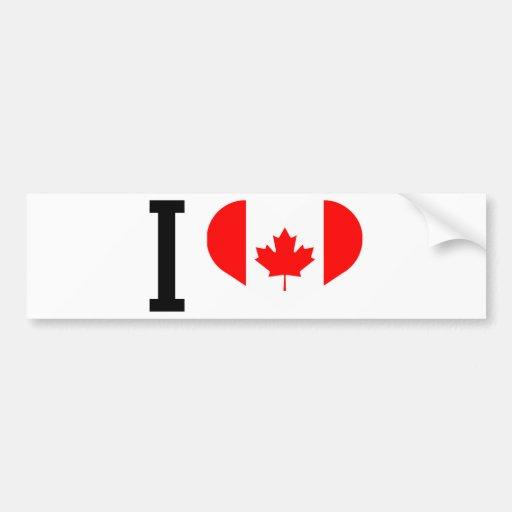 I love Canada Pegatina Para Auto