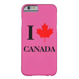 I Love Canada Pink Barely There iPhone 6 Case