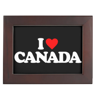 I LOVE CANADA MEMORY BOXES