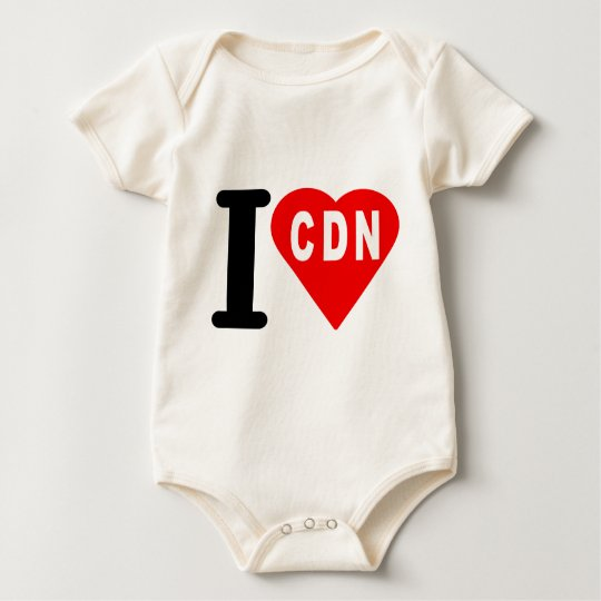 i_love_Canada.png Baby Bodysuit