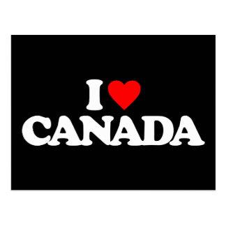 I LOVE CANADA POSTCARD