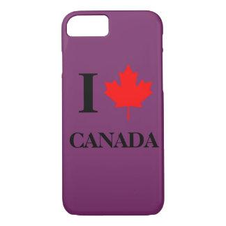 I Love Canada Purple iPhone 8/7 Case