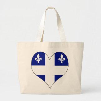 I Love Canada Quebec Canvas Bags