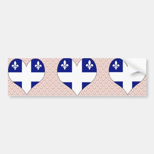 I Love Canada Quebec Bumper Stickers