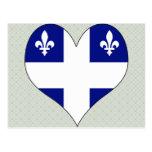 I Love Canada Quebec Postcard