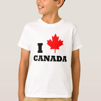 I Love Canada Red Maple Leaf T-shirt