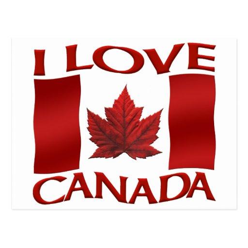 I Love Canada Souvenir Postcards Canada Art Cards