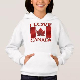 I Love Canada Sweatshirt Girl's Canada Souvenir