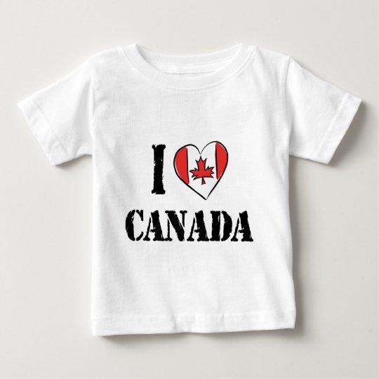 I Love Canada T Shirt Baby