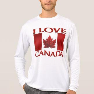 I Love Canada T-shirt Canada Souvenir Sports Shirt Tee Shirts