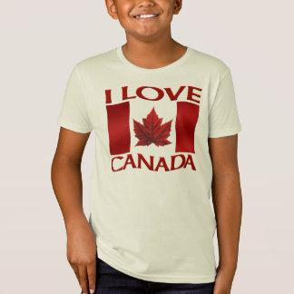 I Love Canada T-shirt Organic Girl's Canada Shirt