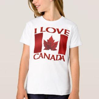I Love Canada T-shirt Organic Girl's Canada Tee