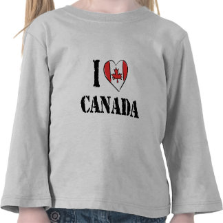 I Love Canada T Shirt Toddler T-shirts