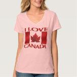I Love Canada T-shirt Women's Canada Souvenir Tops