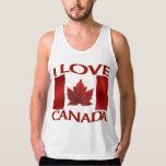 I Love Canada Tank Top Canada Souvenir Men's Shirt