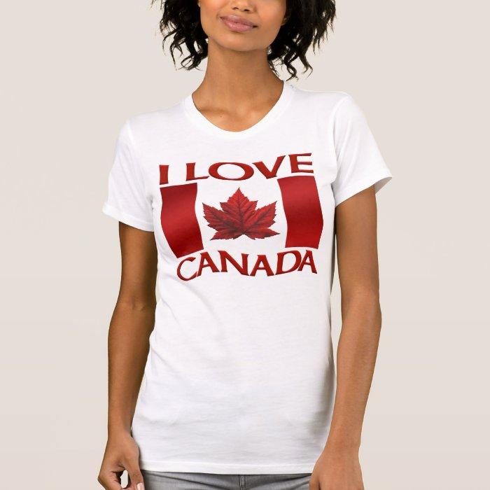 I Love Canada Tank Top Women's Canada Shirt