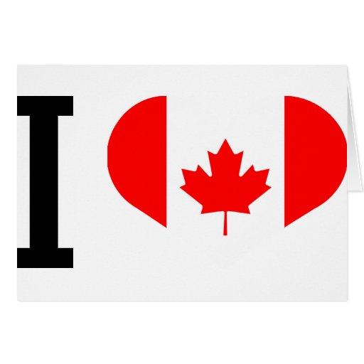 I love Canada Tarjetas