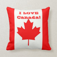 I Love Canada! Throw Pillow