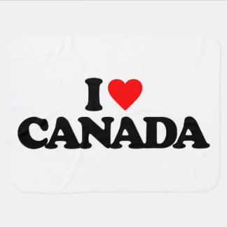 I LOVE CANADA RECEIVING BLANKET