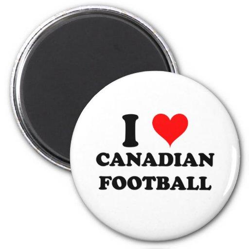 I Love Canadian Football Magnet