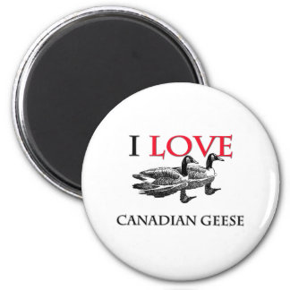 I Love Canadian Geese 2 Inch Round Magnet