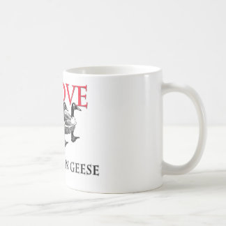 I Love Canadian Geese Classic White Coffee Mug