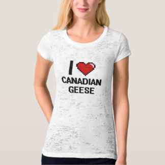 I love Canadian Geese Digital Design Tee Shirt