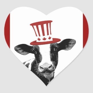 I love Canadian Milk or Dairy Products Heart Sticker